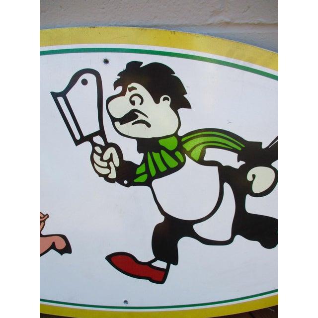 Vintage Wood Pig & Butcher Sign - Image 4 of 9