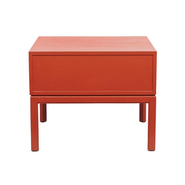 Red Lacquered Hollywood Regency Side Table - Image 5 of 8