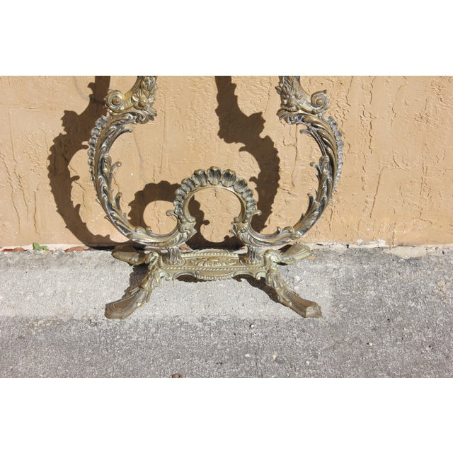 Metal 1900s French Louis XVI Bronze Console Table For Sale - Image 7 of 13