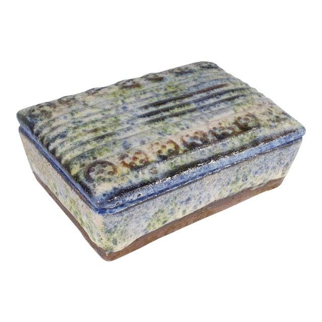 Alvino Bagni for Raymor Italian Mid-Century Blue and Green Dresser Box For Sale