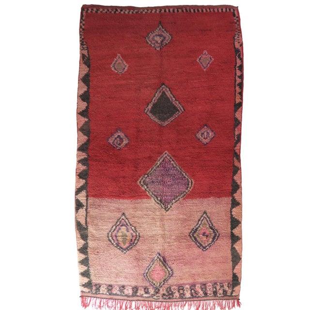 Vintage Moroccan Boujad Rug For Sale - Image 11 of 11