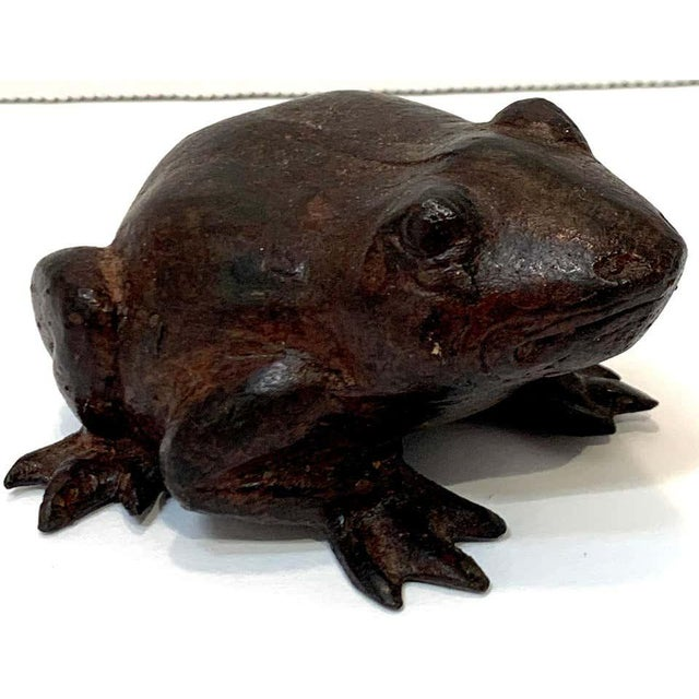 Bronze Chinese Bronze Frog Sculpture For Sale - Image 8 of 9