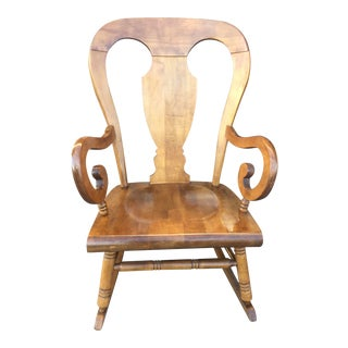 Tell City Balloon Back Maple Rocking Chair For Sale