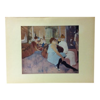 "Mounted Color Print on Paper, ""Salon in the Rue Des Moulins"" - France - Circa 1950 For Sale"