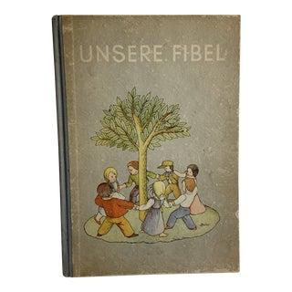 1930 Unsere Fibel Child's Primer Book For Sale