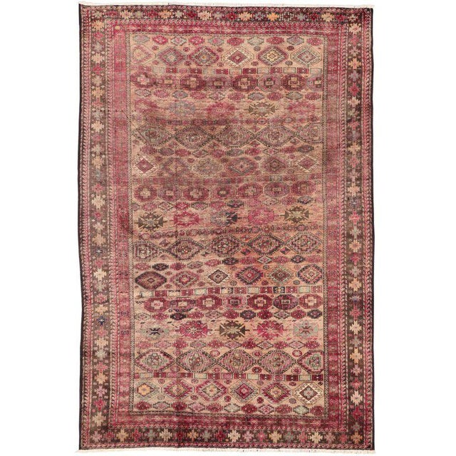 Pink Vintage Persian Baluch Rug with Modern Tribal Style For Sale - Image 9 of 9