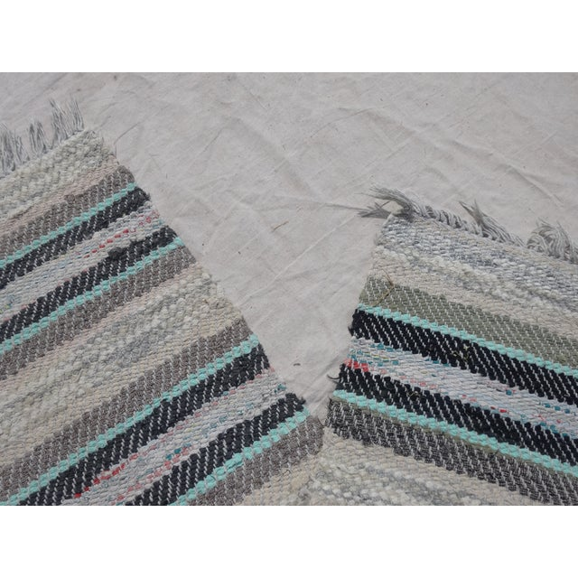 Swedish Vintage Hand Woven Rag Rug - 2′5″ × 7′5″ - Image 3 of 3