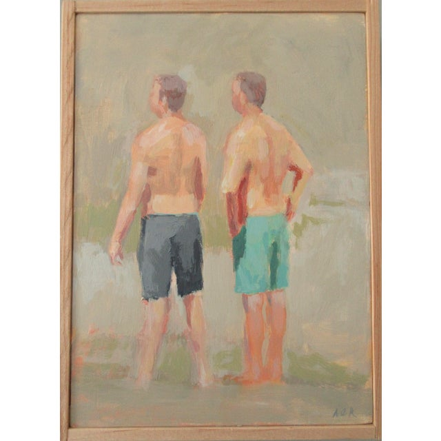 2010s Swimming at the Falls by Anne Carrozza Remick For Sale - Image 5 of 5