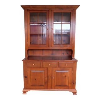 Custom Pine 2 Piece Step Back Cabinet 51w Manor of Tom Seely For Sale