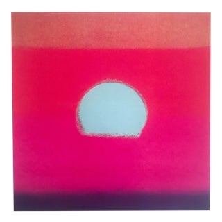 "Andy Warhol Foundation Sunset Series Pop Art Lithograph Print "" Fucshia Sunset "" 1972 For Sale"