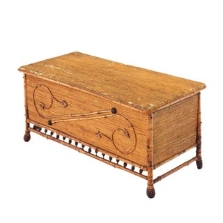 Burnt Bamboo Hope Chest For Sale
