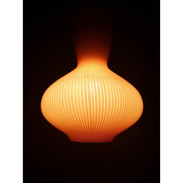 "Murano, Venini & Co. Pair of Massimo Vignelli ""Fungo"" Lighting Fixtures For Sale - Image 4 of 9"