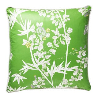 Jardin De Chine Pillow in Jade For Sale