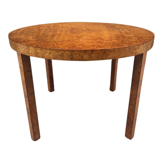Art Deco Burl Wood Table For Sale