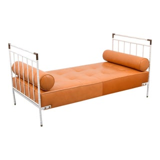 Jacques Adnet White Frame Daybed For Sale