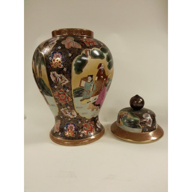 Chinese Famille Rose Vintage Style Temple Jar/Pair - Image 8 of 8