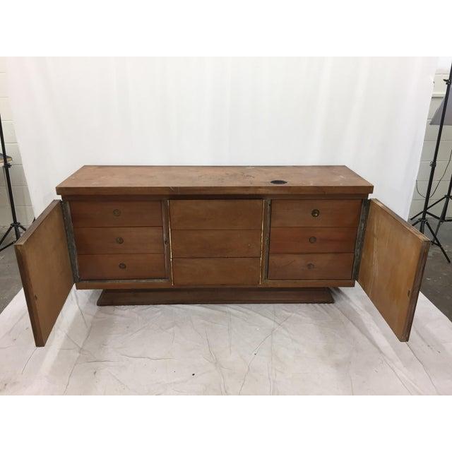 Brass Mid-Century Modern Brutalist Kagan Style Dresser For Sale - Image 7 of 11