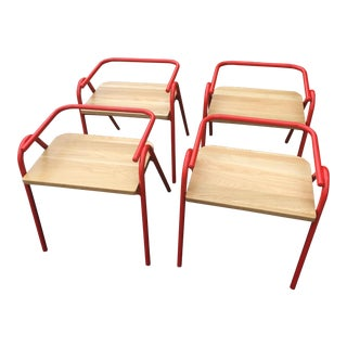 Ton Half Hurdle Chairs - Set of 4 - New For Sale