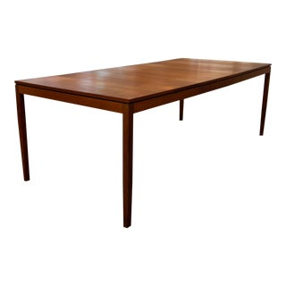 Florence Knoll Walnut Extension Dining Table For Sale