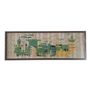 Medieval Castle Art on Woven Textile