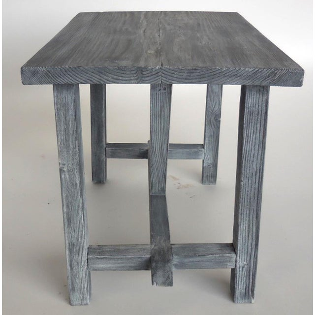 2010s Customizable Reclaimed Wood Side Table For Sale - Image 5 of 7