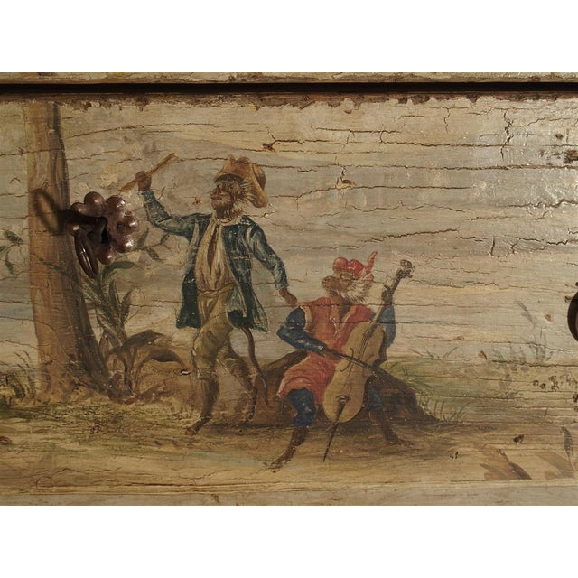 Antique Painted Commode From Italy, 19th Century For Sale - Image 10 of 13