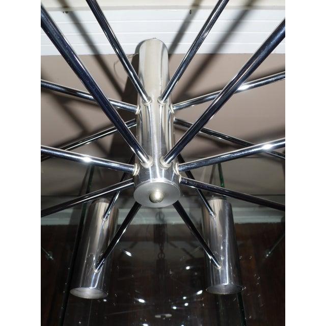 Vintage Mid Century Modern Chrome Starburst Chandelier For Sale - Image 12 of 12