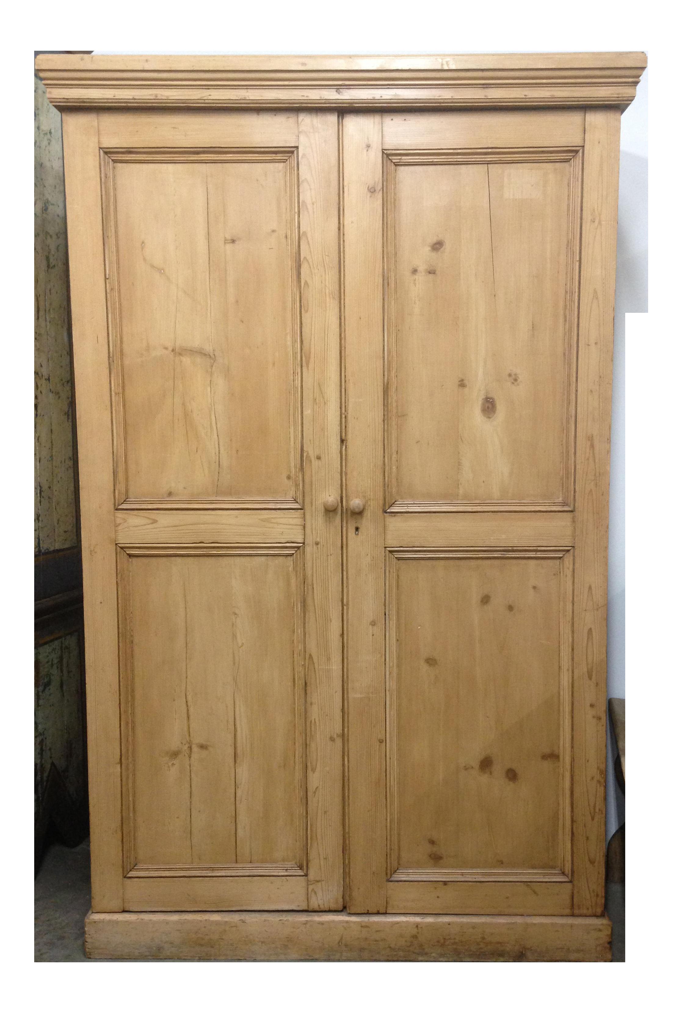 Superieur Antique Unpainted Rustic Pine Armoire
