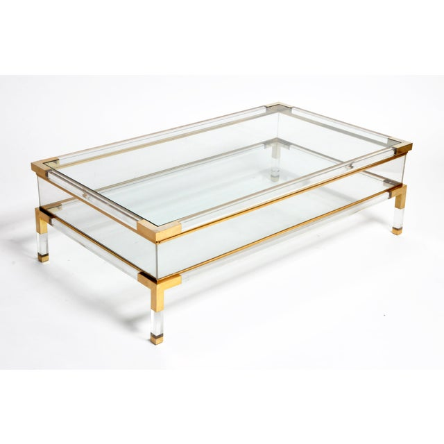 Vintage 1970s Sliding Glass Top Coffee Table Attributed to Maison Jansen For Sale - Image 13 of 13
