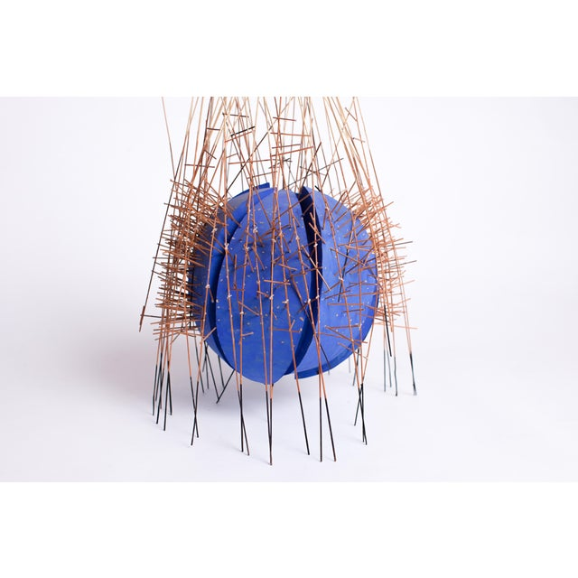 Irving Harper 20th Century Irving Harper Kinetic Round Blue Geometric Sculpture For Sale - Image 4 of 7