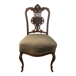 Late 19th Century Antique Victorian Rosewood Chair For Sale