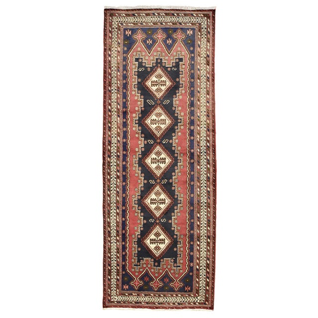 Persian Afshar Runner - 3'5'' X 9'3'' For Sale - Image 13 of 13