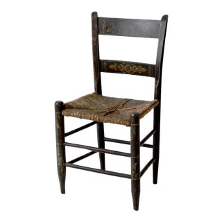Antique Hitchcock Rush Seat Chair For Sale