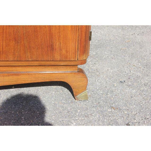 1940s 1940s French Art Deco Exotic Rosewood Cut Glass Panel Credenza For Sale - Image 5 of 10