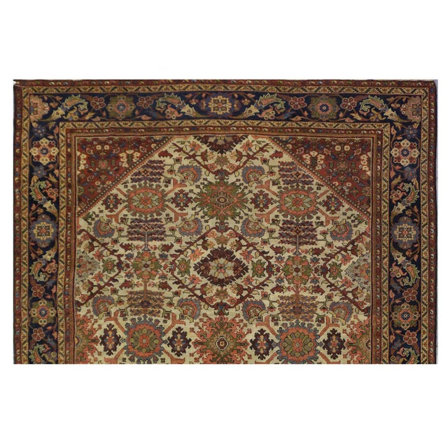 Islamic Antique Persian Mahal Rug - 9'3'' x 11'11'' For Sale - Image 3 of 4