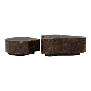 Covet Paris Wave Walnut Coffee Table For Sale