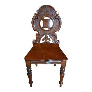 Good Single English Mahogany Hall Chair