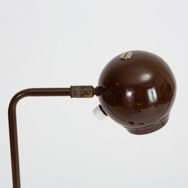Brown Single Eyeball Floor Lamp by Robert Sonneman for George Kovacs For Sale - Image 8 of 10