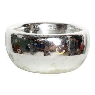 Mid Century Modern Decorative Mercury Silver Bowl Catch All, Mexico 1960s For Sale