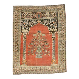 Antique Persian Tabriz Prayer Rug For Sale