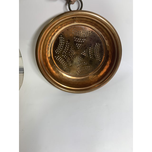 Vintage French Country Copper Strainer For Sale - Image 4 of 10