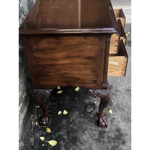 1970s Kittinger Ball & Claw Foot Low Chest For Sale - Image 5 of 11