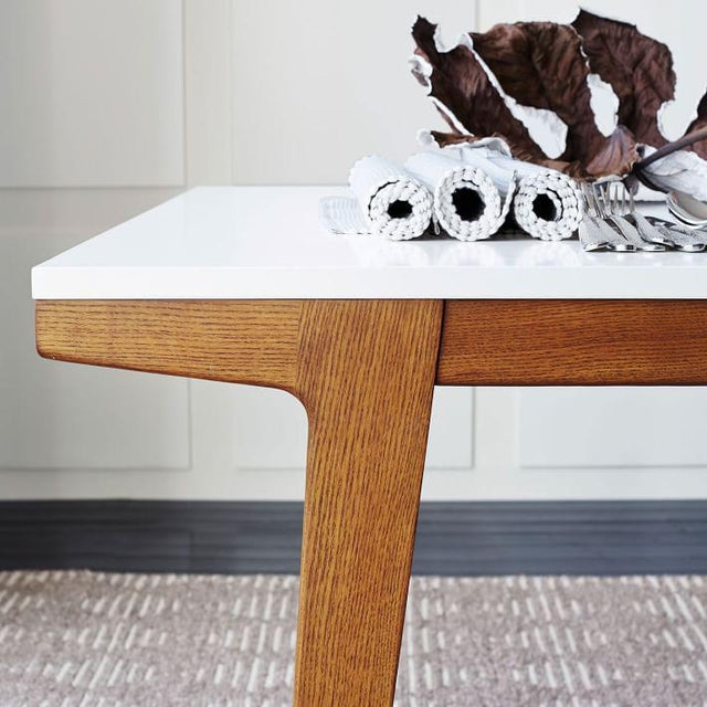 West Elm Modern Dining Table For Sale - Image 5 of 7