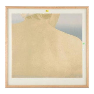 """1985 """"Charlotte's Gaze"""" Abstract Figurative Numbered Lithograph by Dennis Kardon, Framed For Sale"""