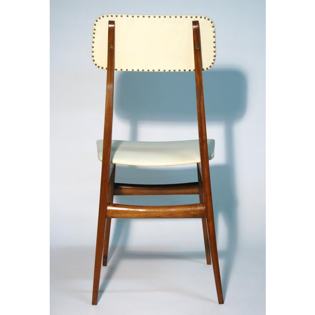 Brown Italian Modernist Chair For Sale - Image 8 of 10