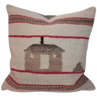 Early and Rare Pictorial Navajo Indian Weaving Pillow For Sale