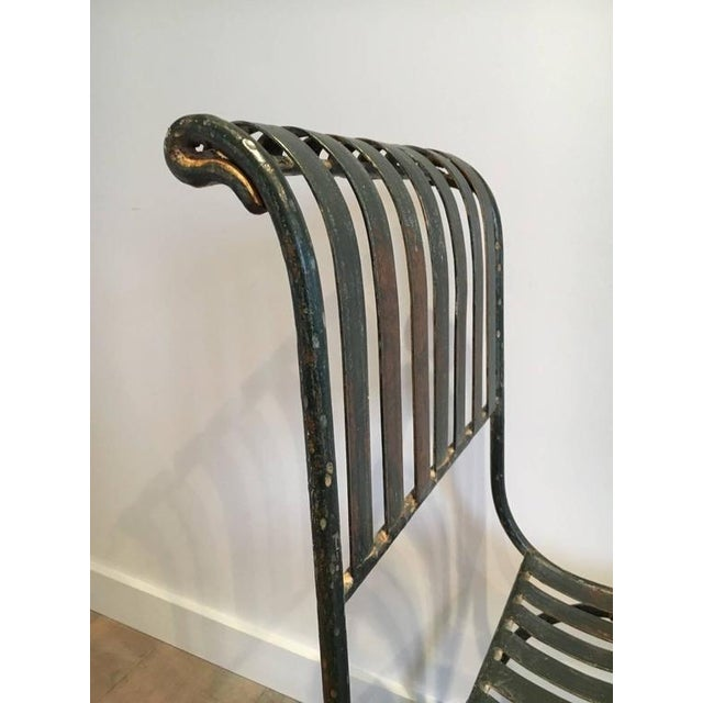 French Wrought Iron Garden Chair - Image 7 of 11