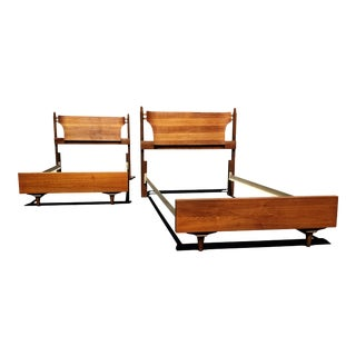 Mid Century Modern Twin Beds, Headboards. For Sale