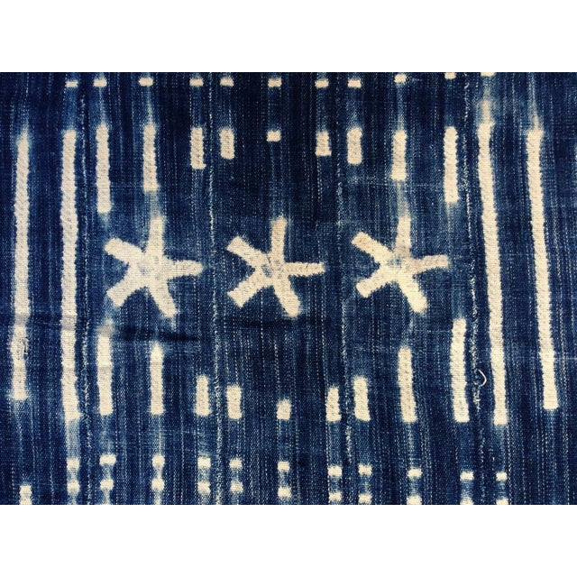 Vintage West African Indigo Throw - Image 4 of 6