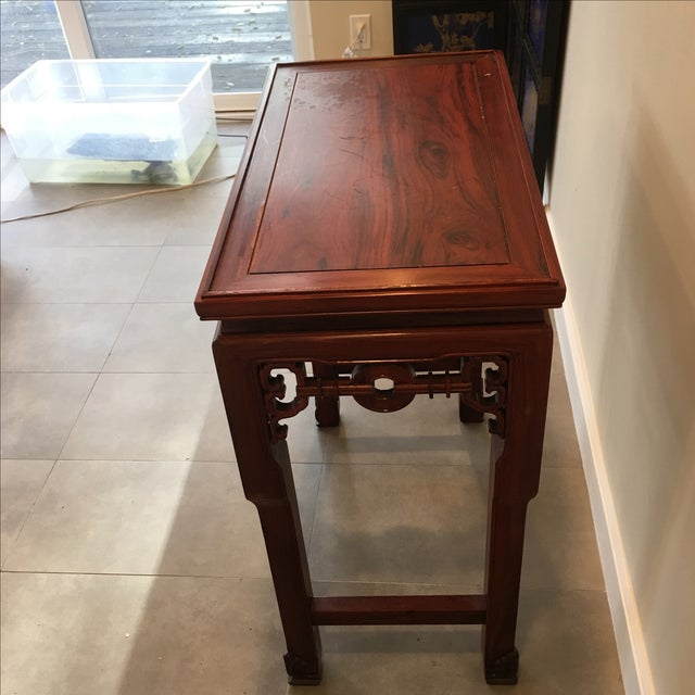 Carved Chinese Rosewood Alter Table For Sale - Image 11 of 11